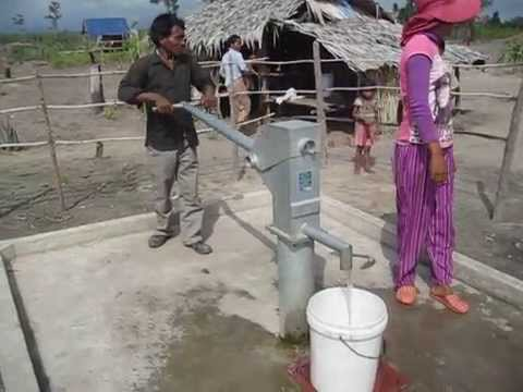 Clean water is everything. New deep water well in Cambodia.