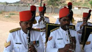 Sainik School Bijapur, Maratha Light Infantry Band at Badami  2