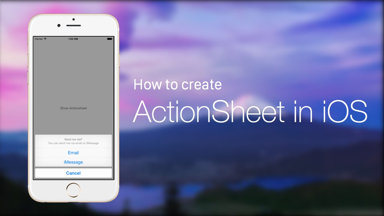 Code Hangout #17 - How to Create and Use an Action Sheet with Swift in iOS