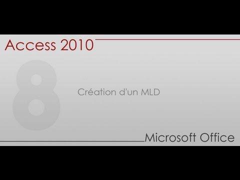 Formation Access 2010 - Partie 8 - Création d'un MLD (Modèle Logique de Données) - YouTube