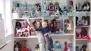 CraftsAdore's Huge American Girl Dolls House Tour 2016 ~ PLEASE WATCH IN HD~