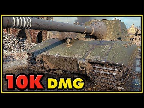Jagdpanzer E-100 - 10K Damage - World of Tanks Gameplay