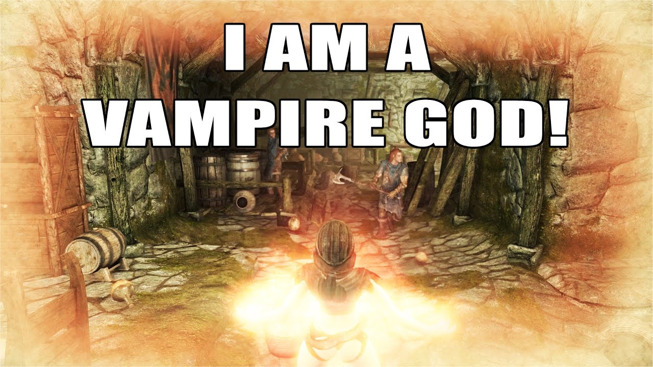 Skyrim Remastered Shades Of Night Vampire Race Xbox One Console Mod