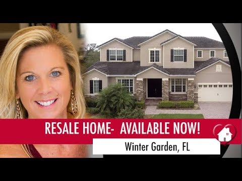 Resale Home Winter Garden Florida-  Gorgeous 5 Bedroom Media Room Pool and More!