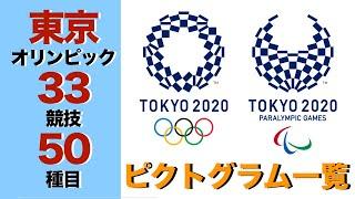 【東京オリンピック】いくつ分かる?  全33競技50種目のピクトグラム一覧一挙公開!