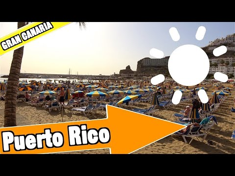 Puerto Rico Gran Canaria Spain: Tour of beach and resort