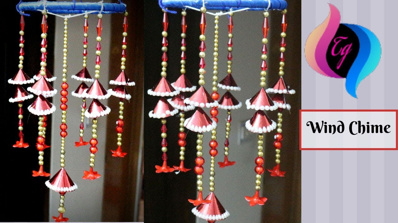 Wall Decoration Items Diy Wind Chime  Wall Hanging Craft Ideas  Decoration Items Made