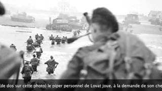 D-Day. Lord Lovat réclame Blue Bonnets Over The Border