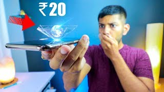 How To Make a 3D Hologram with your Smartphone for Just 20 Rupees!
