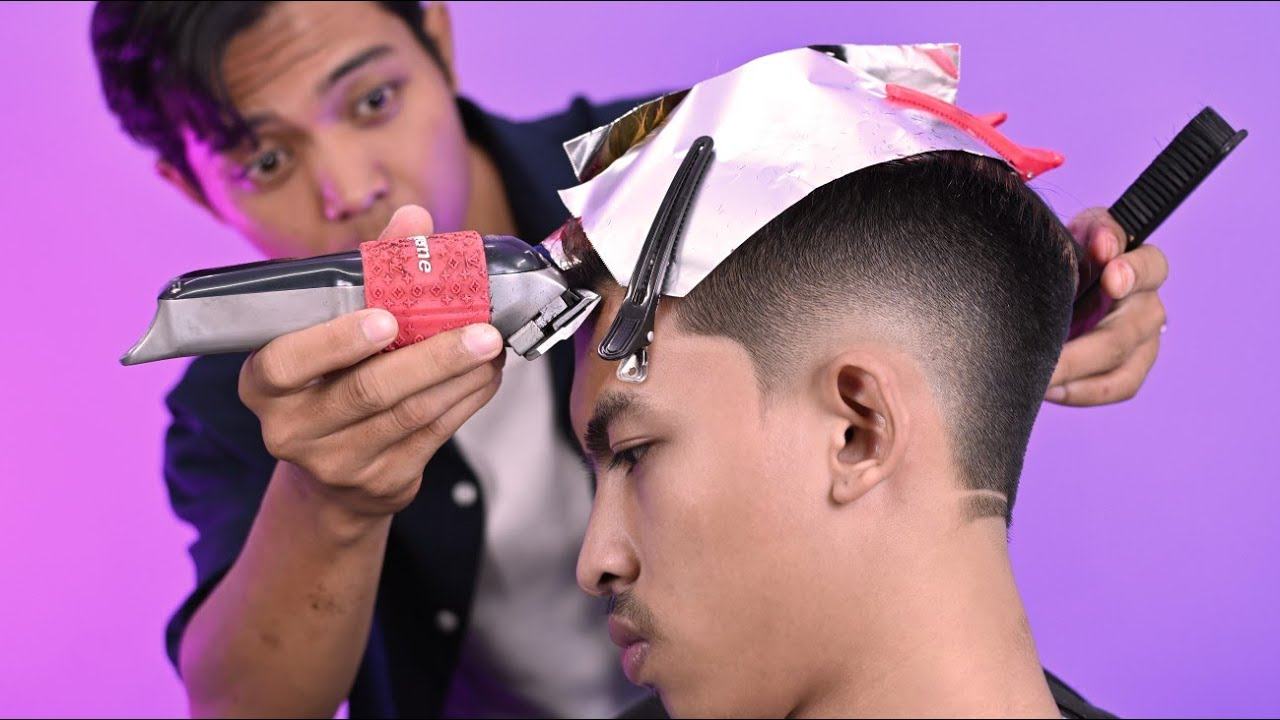 Fade and Color - Pangkas Rambut Pria keren 2021