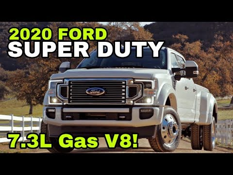 2020 FORD Super Duty REVEAL! With a 7.3L Gas Engine!