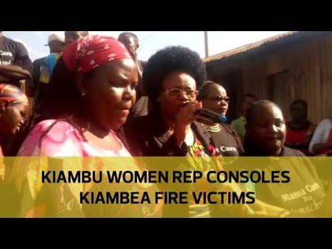 Kiambu women rep consoles Kiambea fire victims