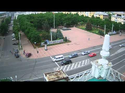 Видео обстрела Луганской
