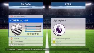 PES 2017 Patch Europa + Brasileirao Series B C e D + Campeonato Paulista DOWNLOAD