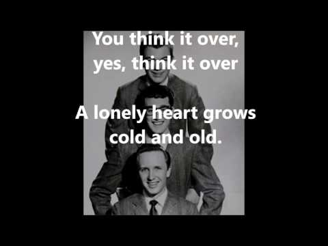 Think It Over   THE CRICKETS (with lyrics) Mp3