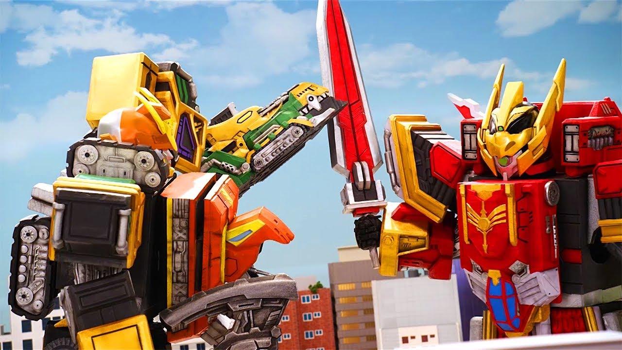 Top 10 Megazord Transformer Fights - Legend Heroes