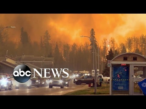 Fire Ravages City of Fort McMurray, Alberta