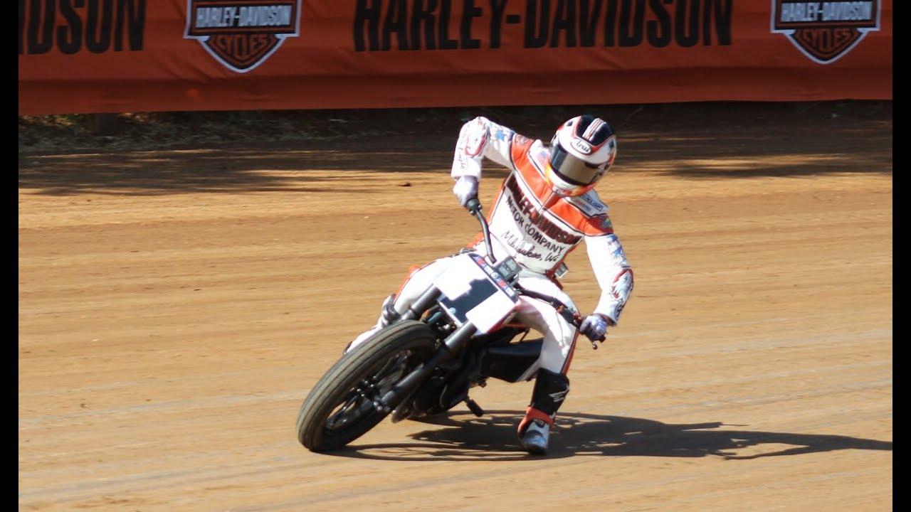 Harley Flat Track >> Brad Baker Track Walk of Hagerstown Speedway - AMA Pro ...