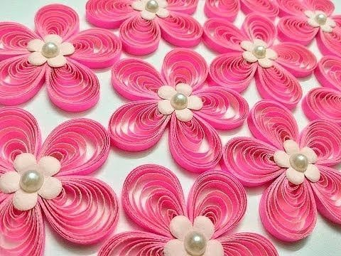 How to make beautiful paper quilled Flower || Easy paper craft ideas