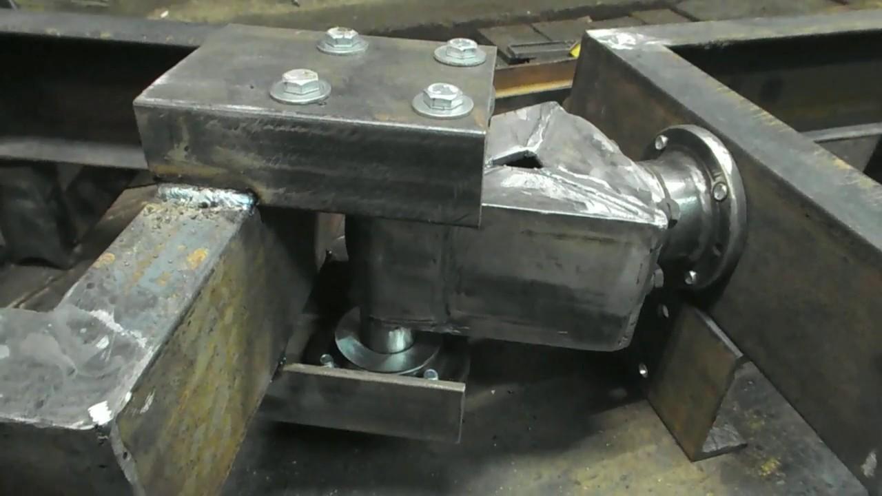 НОВЫЙ УЗЕЛ ПЕРЕЛОМА самодельного мини трактора погрузчика