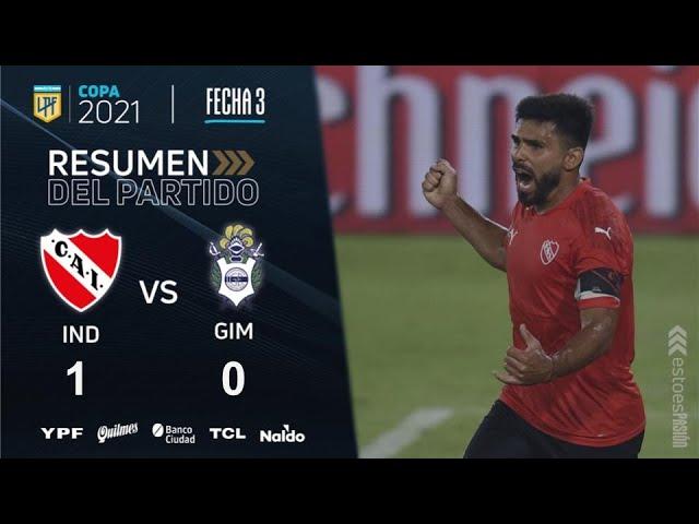 Copa De La Liga   Fecha 3   resumen de Independiente - Gimnasia