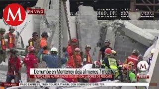 Derrumbe en Monterrey deja al menos 7 muertos