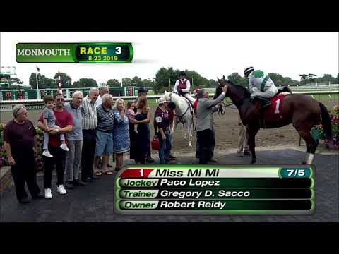 video thumbnail for MONMOUTH PARK 8-23-19 RACE 3