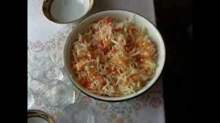 Маринованная капуста с болгарским перцем.( Очень вкусная).
