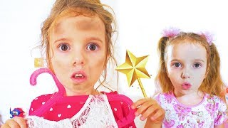 Kids pretend play Cinderella Dress Up / Funny story