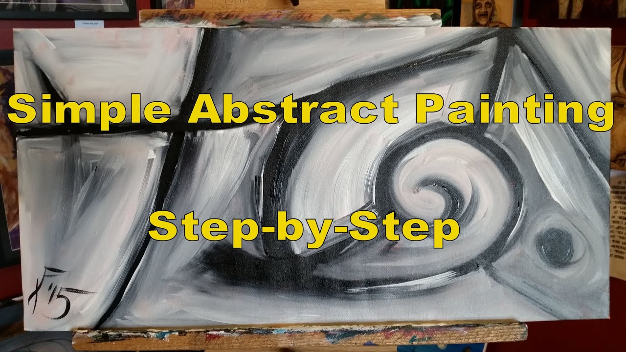 Acrylic Painting For Beginners Simple Abstract Step By Step Painting On Canvas For Beginners