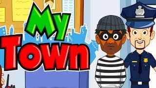 Играем в ТОРГОВЫЙ ЦЕНТР MY TOWN POLICE#3 Приключение ДЕТЕЙ ПОЛИЦЕЙСКАЯ МАШИНА Мультик игра для детей