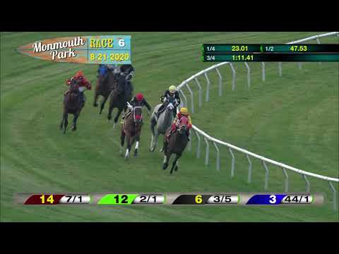video thumbnail for MONMOUTH PARK 08-21-20 RACE 6