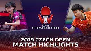 Mu Zi vs Maki Shiomi | 2019 ITTF Czech Open Highlights (Pre)