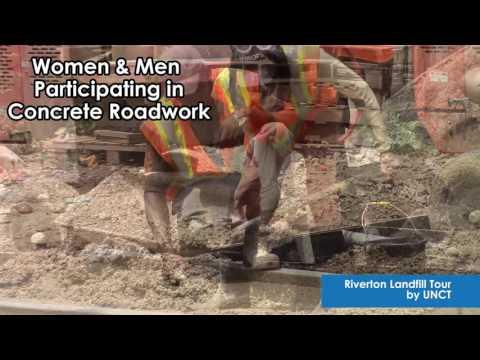 UN Jamaica: Riverton Women and Men participate in Concrete Roadwork for Sustainability