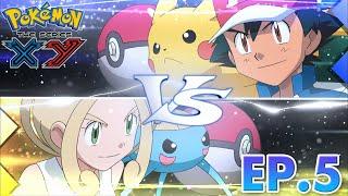 Pokémon the Series: XY| EP05 A Blustery Santalune Gym Battle! | Pokémon Asia ENG