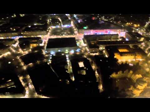 Dresden by night from above