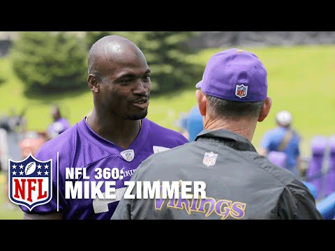 Mike Zimmer: Blunt & Beloved | Adrian Peterson & Vikings Stars Weigh In On Their Coach | NFL 360