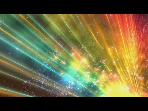 4K Sparkling Colorful Rays Of Lights In Space HD Background
