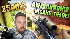 MY BIGGEST TRADE EVER ON CS.MONEY!!! (2500$ AWP GUNGNIR)