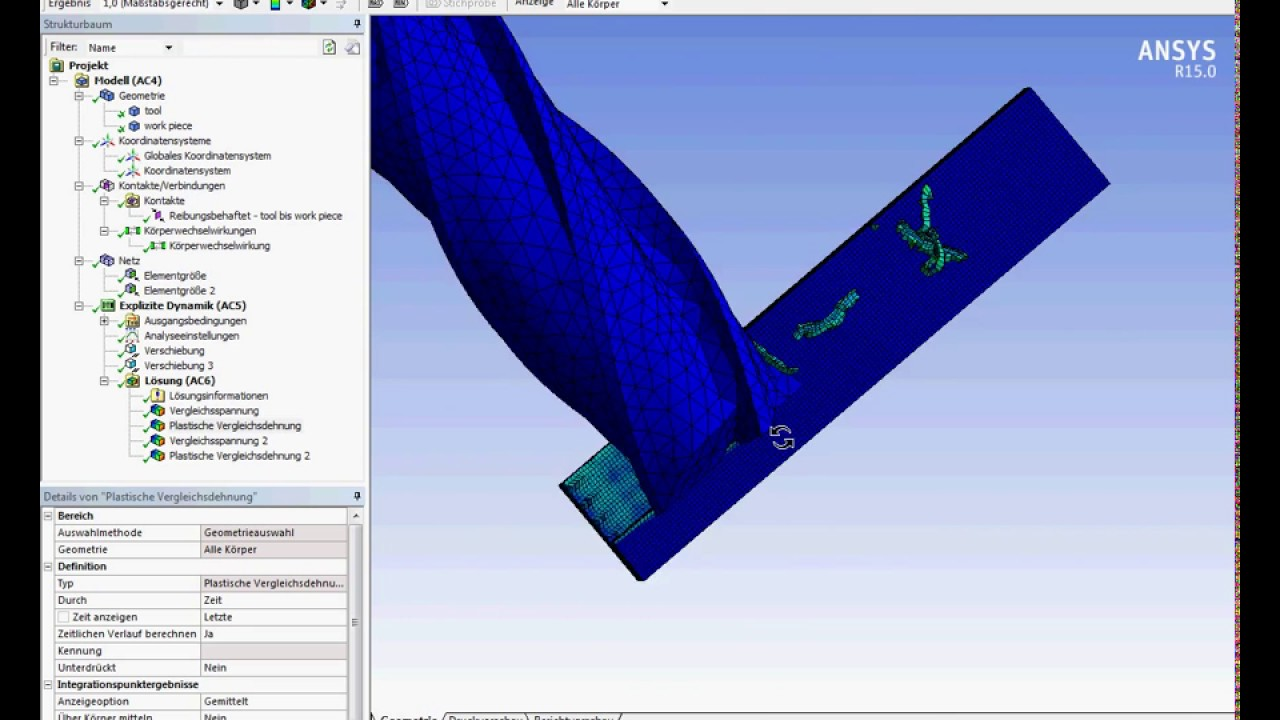 Ansys Workbench explicit dynamics end milling of AlSi 1045 (Tutorial ...
