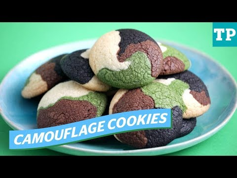How To Make Camouflage Cookies: Easy Treat For An Outdoor-themed Birthday Parties | Eats + Treats