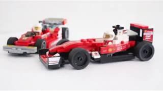 Old Formula 1 Ferrari from Ferrari Ultimate garage 75889 speed build.