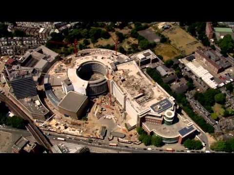 Demolition of BBC Television Centre - aerial view