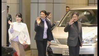 皇太子さま 再び旧型セレナの3列目シートへ!! The Crown Prince arrived at Tokyo Station