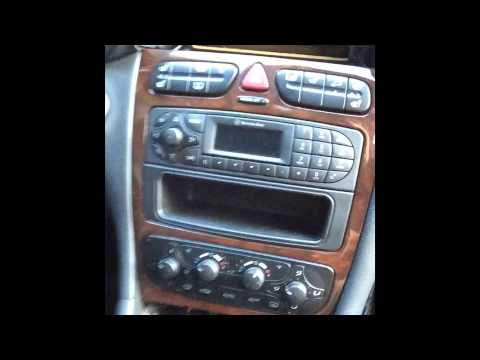 hqdefault how to remove radio from 2003 mercedes c240 youtube 2004 Ford Explorer Stereo Wire Harness at virtualis.co