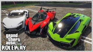 GTA 5 Roleplay - Devel Sixteen vs Lykan Hypersport vs Lamborghini Terzo Millennio | RedlineRP #249