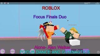 Roblox- Focus Dance and Gymnastics- Focus Finals Duo- Fofodatpuglet3 & Firestar13333333