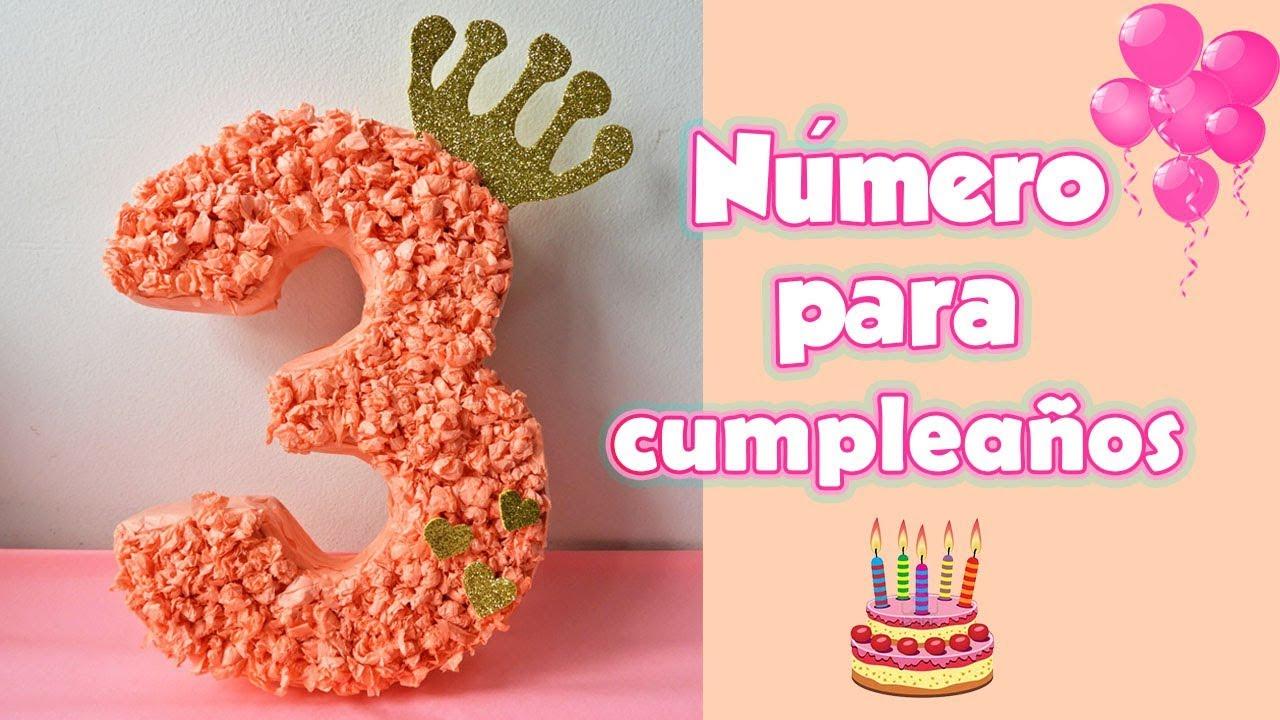 Número De Cartón Para Cumpleaños Manualidades Diy
