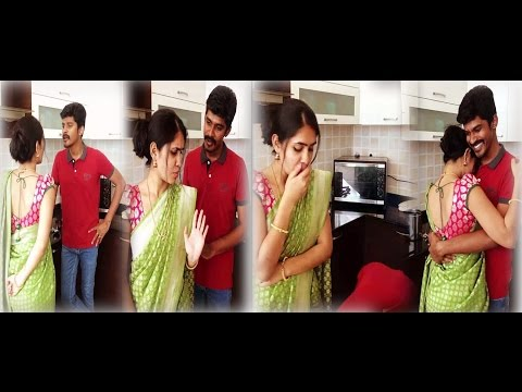 Arun & Sanjana Real Couple_ Sethupathi Love Scene Super HD Dubsmash