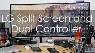 LG UltraWide Monitor Split Screen & Dual Controller Functionality